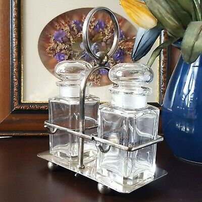 Silver Plated Mini Twin Decanter Stand