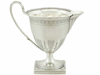 Antique Sterling Silver Cream Jug by Henry Chawner - George III (1794)
