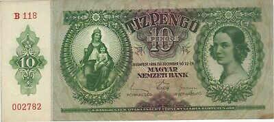 1936 10 Pengo Hungary Currency Banknote Note Money Bank Bill Cash Budapest