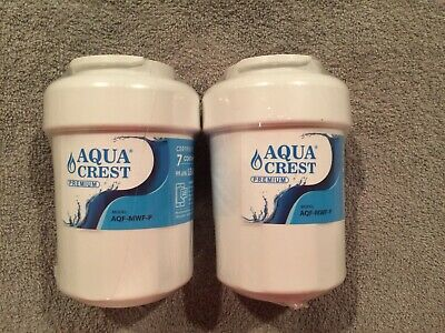 Lot of 2 AQUACREST MWF-P Refrigerator Water Filter,NSF 53&42