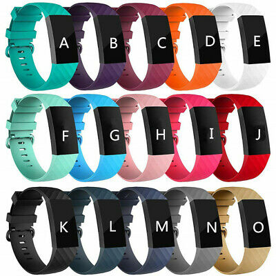 For Fitbit Charge 3 Wrist Watch Sports Band Silicone Strap Wristband Bracelet