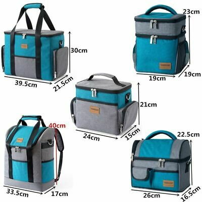 Men Women Bag Shoulder Insulated Cooler Thermal Portable Picnic Ice Lunch Pack