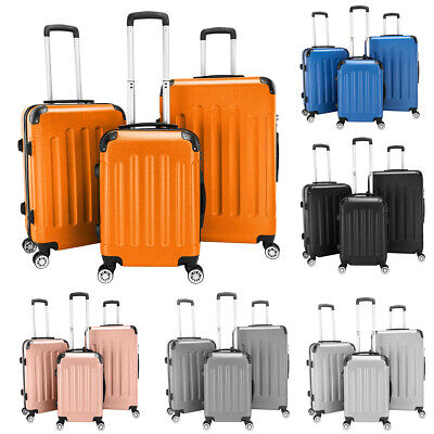 "3PCS Travel Luggage Set ABS Spinner Suitcase Bag Trolley Case w/Lock 20"" 24"" 28"""