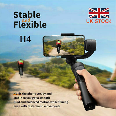 3-Axis Handheld Mobile Phone Gimbal Stabilizer for Smart-Phone Action-Camera UK!