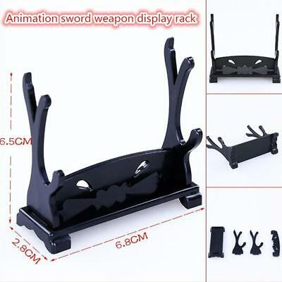 Sword Dagger Cane Gun Table Stand Double Display Stand Rack Wood 2019