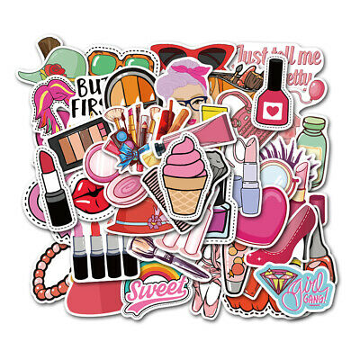 50Pcs Funny Skateboard Stickers Vinyl Laptop Luggage Decals Makeup Stickers