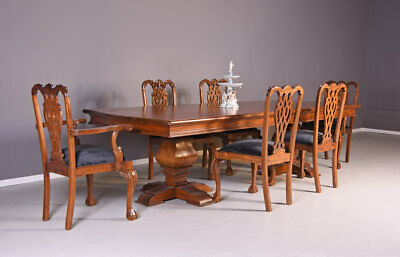 Antique style dining room table mahogany wood 300cm giant table handworked new