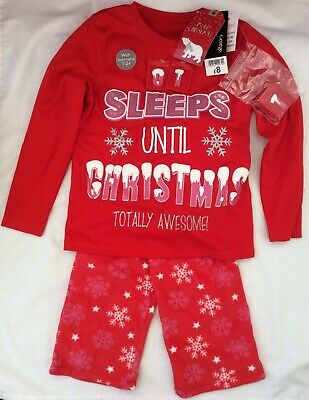New George Girls Pyjamas Pj's Christmas Countdown 6-7 Years