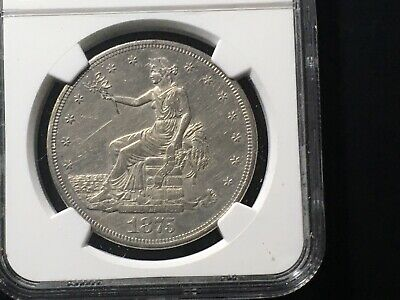 1875-CC Trade Dollar NGC Unc Details Cleaned