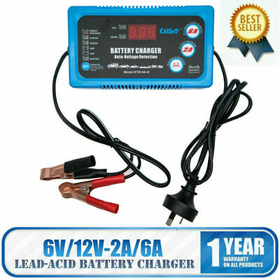 Battery Charger Maintainer 6V 12V Amp Volt Trickle RV Car Truck Motorcycle Mower