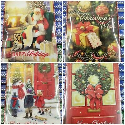 """4 Boxes Of 7""""x5"""" CHRISTMAS CARDS, 48 - 52 Cards + envelopes RANDOM SEL"""