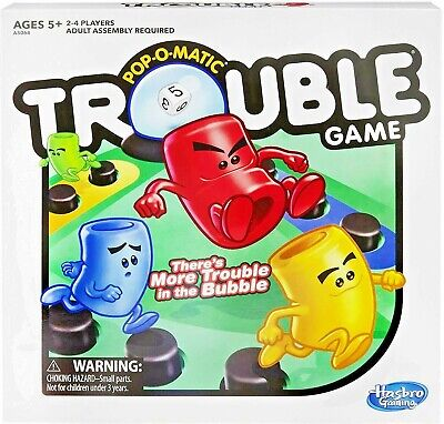 Trouble Game by Hasbro Original FREE SHIPPING & RETURN!