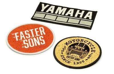 GENUINE YAMAHA FASTER SONS SEW ON PATCH BADGE SET x3 EMBROIDERED N20-PA010-B7