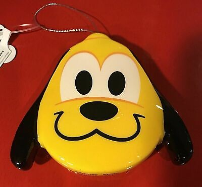 "Disney Parks "" Pluto "" Emoji Blitz Christmas Ornament New with Tags"