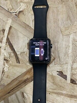 Damaged - Apple Watch Series 3 42mm Space Gray with Black Sport Band (GPS +