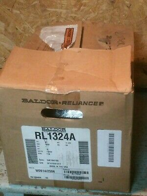 Baldor Reliance 3/4 .75 HP Electric Motor RL1324A - 1725 RPM -Volts 115/230 new