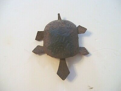 Antique Primitive Hand Crafted Turtle-Moving Head and Legs-Unmarked-4 1/2""