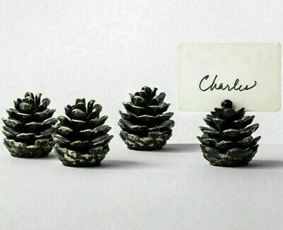 Hearth & Hand Magnolia Metal Pinecone Placecard Holders Set Antique Brass Finish