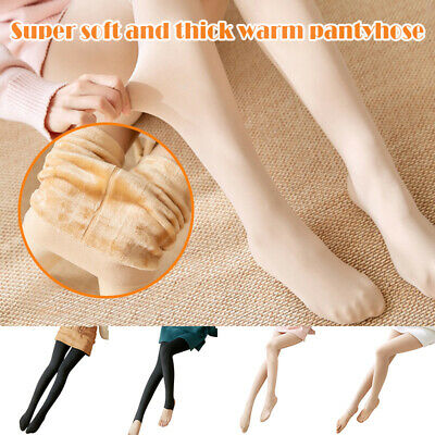 Legs Fake Translucent Warm Fleece Pantyhose