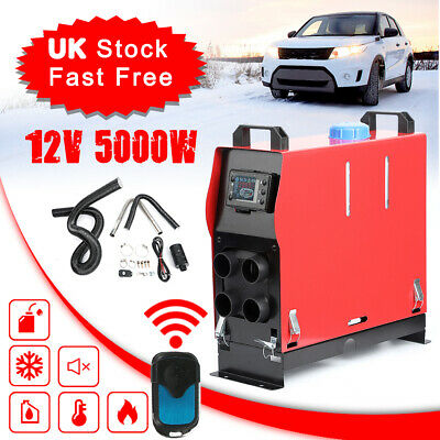 5KW 12V Air Diesel Heater 4 Holes LCD Monitor PLANAR Remote For Trucks Boats Car