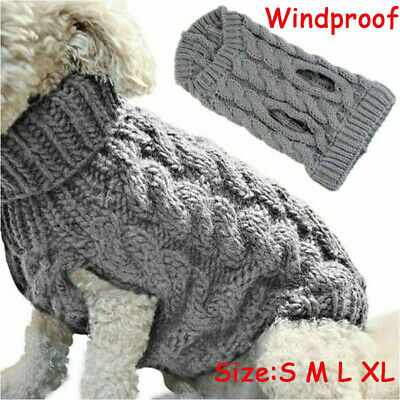 Small  Dog Knitted Jumper Sweater Pet Clothes Fashion Puppy Kitten Warm Coat UK
