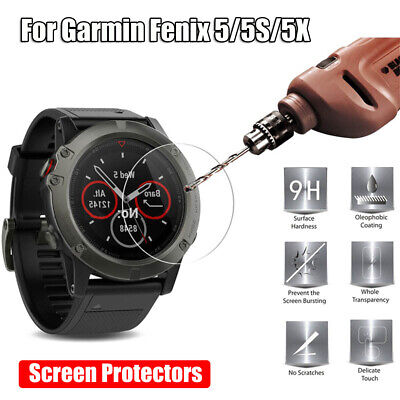 Clear For Garmin Fenix 5 5X 5S Tempered Glass Screen Protectors Protective Film