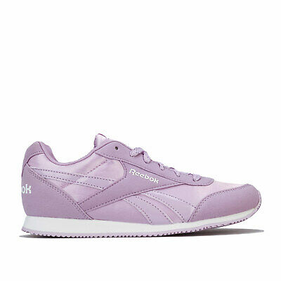 Junior Girls Reebok Royal Cl Jog Trainers In Purple- Lace Fastening- Cushioned