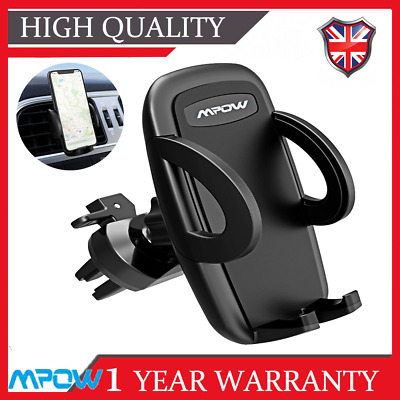 Mpow Car Mobile Phone Air Vent Mount Holder 360 Rotate In Cradle Stand Universal