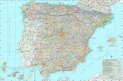 Large-detailed-map-of-spain-with-cities-and-towns -free shipping via-e-mail