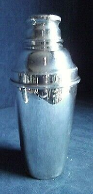 SUPERB ~ SILVER Plated ~ ART DECO ~ COCKTAIL SHAKER ~ c1935