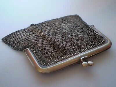 Charming Antique Continental Silver Chain Mail Purse