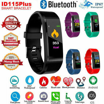 Fitness Smart Watch Band Sport Activity Tracker For Kids Mens Android iOS UK