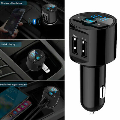 Bluetooth Car Kit MP3 Wireless FM Transmitter Dual USB Charger Handsfree