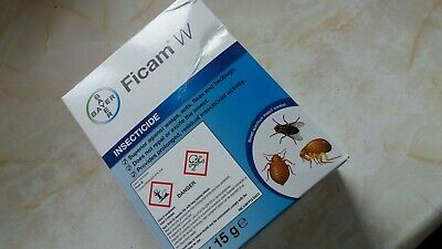 BAYER FICAM W INSECTICIDE 2 x 15G - WASPS FLEAS ANTS BEDBUGS COCKROACHES