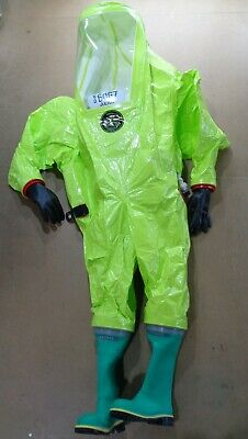 Respirex Tychem TK Type 1A Limited Life HAZMAT Chemical Gas Tight Suit H5