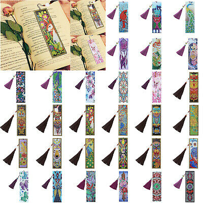 DIY Butterfly Special Shaped Diamond Painting Leather Bookmark Tassel Book Marks