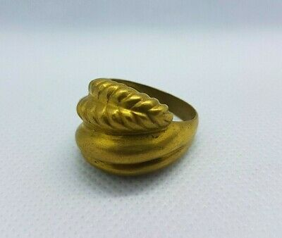 ancient antique roman legionary ring bronze artifact authentic rare type