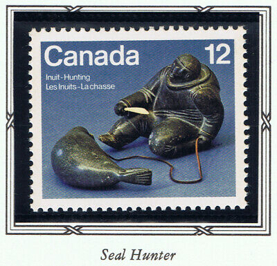 Canada #748(1) 1977 12 cent INUIT HUNTING - SEAL HUNTER MNH
