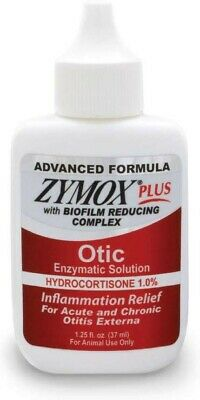 Zymox Plus Otic Enzymatic Solution with Hydrocortisone 1%, 1.25oz Fast Delivery