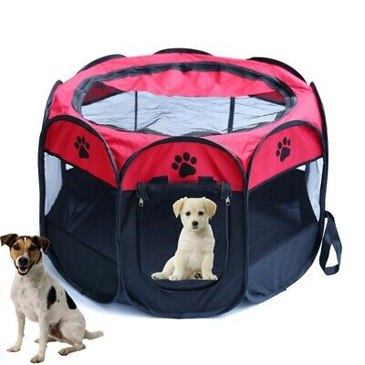 Pet Dog Cat Playpen Tent Puppy Outdoor Sports Fence Crate Kennel Cage Oxford Box