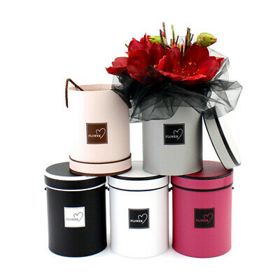Handheld Bouquet Flower Boxes Round Living Vases Florist Box Storage Boxes UK