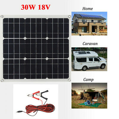 30W 18V  Car Boat Yacht Solar Panel Trickle Battery Charger Power Supply Outdoor