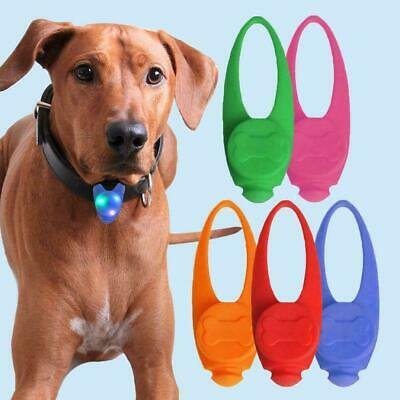 Pet Dog Cat LED Safety Night Light Pendant Tag Clip Puppy Flashing Collar Gift