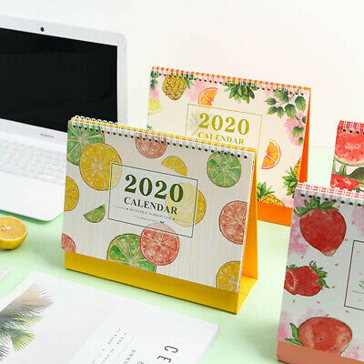 2020 Desk Calendar Fruit Series Coil Calendar Office Table Schedule Planner AU