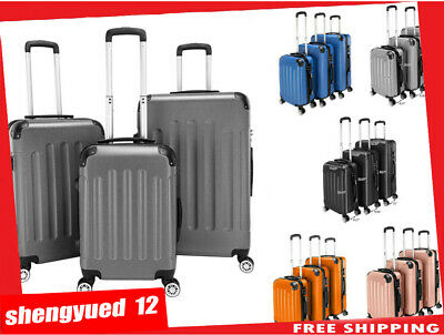 "Luggage Trolley ABS Trolley Spinner Suitcase 20"" 24"" 28"" Set Of 3 Luggage Set"