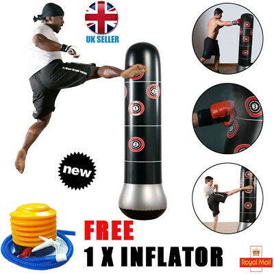 Free Standing Inflatable Boxing Punch Bag Stand MMA Kick Martial Art Training UK