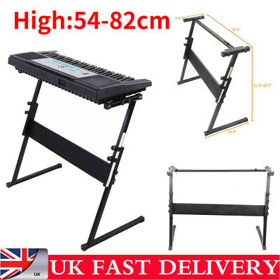Glarry Keyboard Piano Z Stand Electric Piano Rack Iron Height Adjustable Black