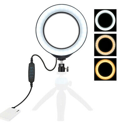 LED Ring Light Lamp Selfie Camera Phone Studio Tripod Photo Video Dimmable 3Mode