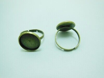 200 Bronze Round Adjustable RING Blank Bases Jewelry Finding 14m