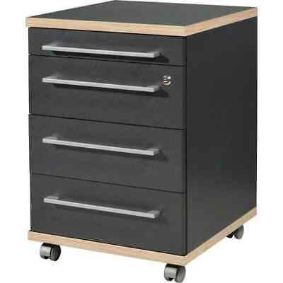 Germania Rolling Filing Cabinet Duo Anthracite Document Organizer Storage Desk